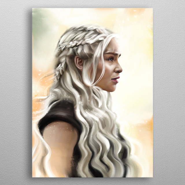 Mother of dragons metal poster