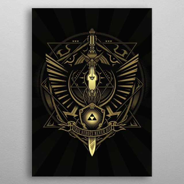Fascinating metal poster designed by StudioM6 Designs. Displate has a unique signature and hologram on the back to add authenticity to each design. metal poster
