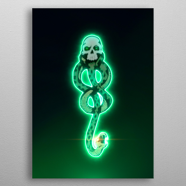 3D death eater tattoo (modeling, post-production, edition & render in After Effects) metal poster