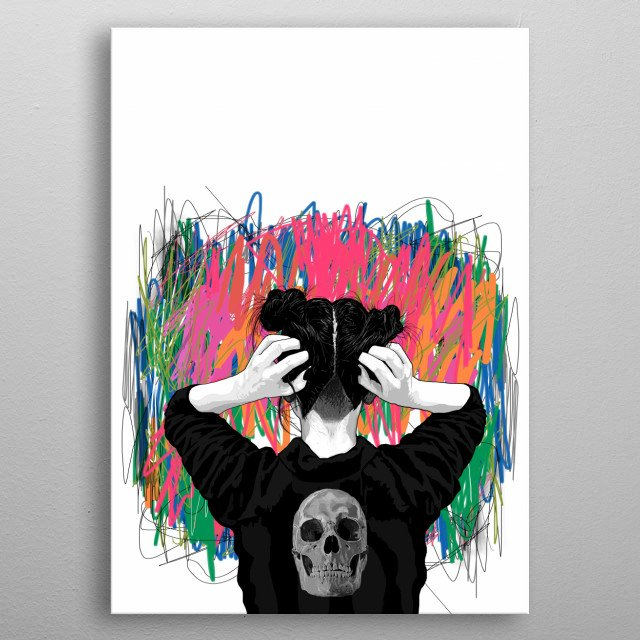 Fascinating metal poster designed by PedroTapa. Displate has a unique signature and hologram on the back to add authenticity to each design. metal poster