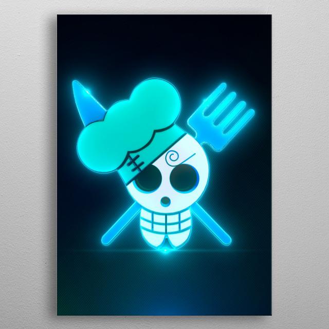 3D Sanji Flag Emblem (modeling, post-production, edition  metal poster