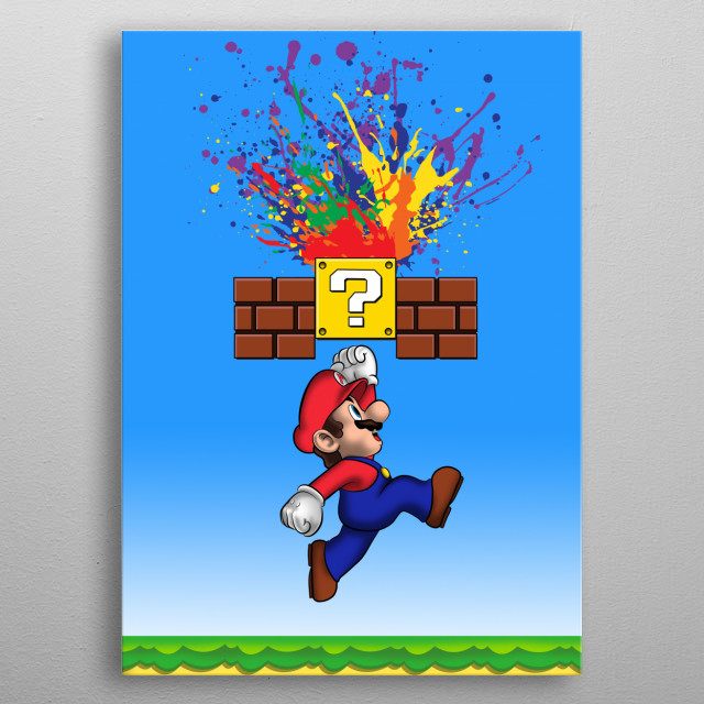 Super Paint Splatter metal poster