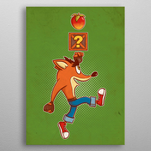 Super Crash Box metal poster