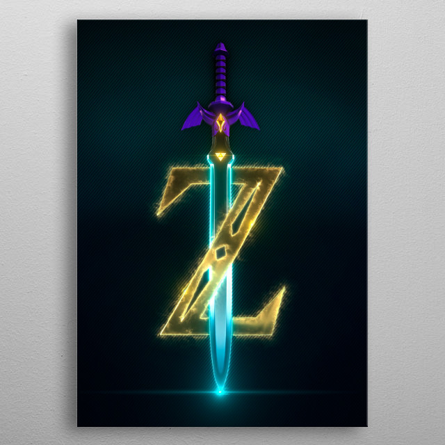 3D Link Master Sword. (modeling in Autodesk Maya,post-production, edition  & render in After Effects.) metal poster