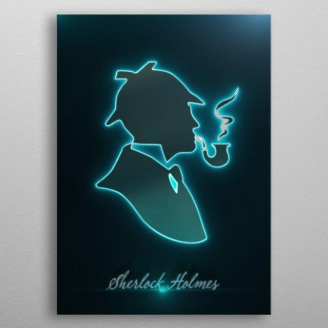 Sherlock Holmes (modeling, post-production, edition & render in After Effects) metal poster