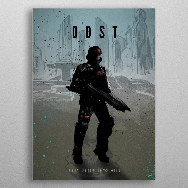 Legends of Gaming - ODST metal poster
