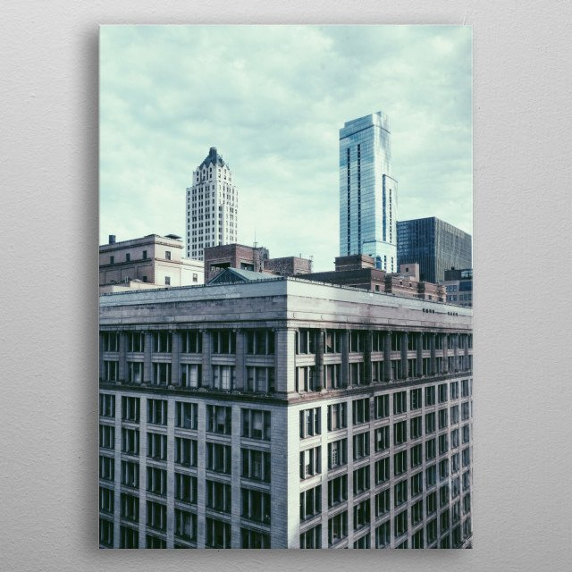 Chicago Architecture metal poster