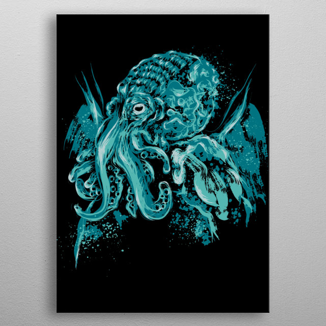God beyound the Sea metal poster