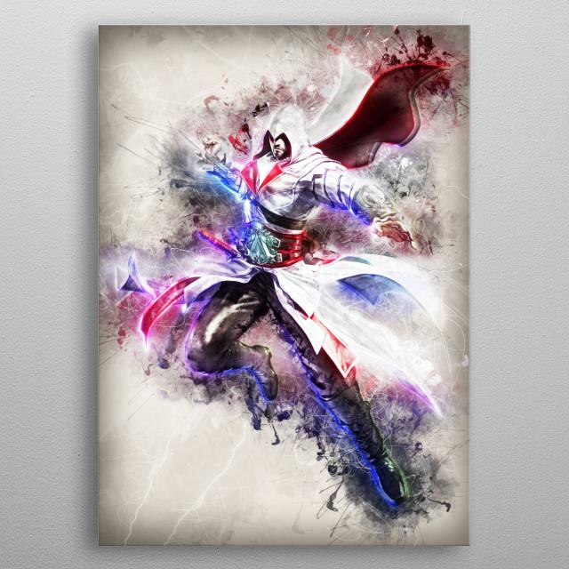 Ezio fanart metal poster