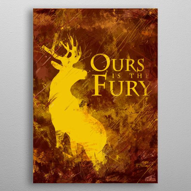 Deer Fury metal poster