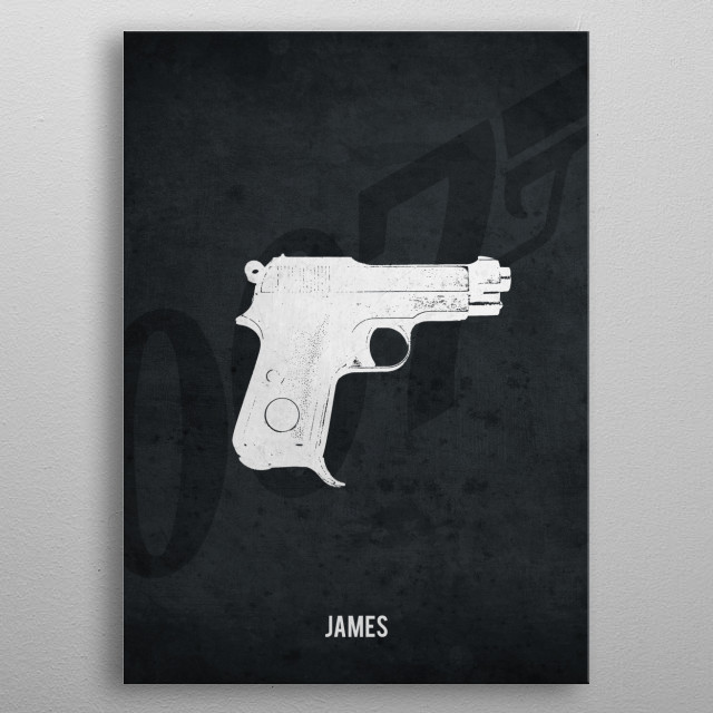 Legendary Weapons - James' Baretta Model 1934 metal poster