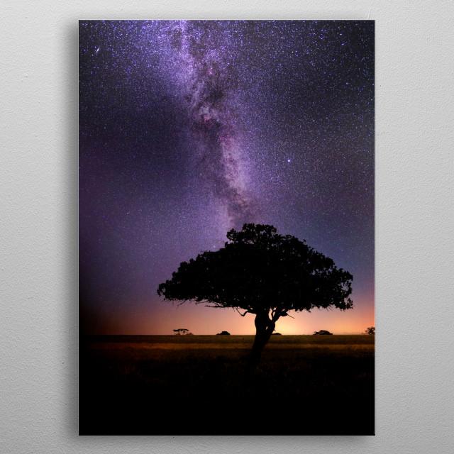 night in Africa metal poster