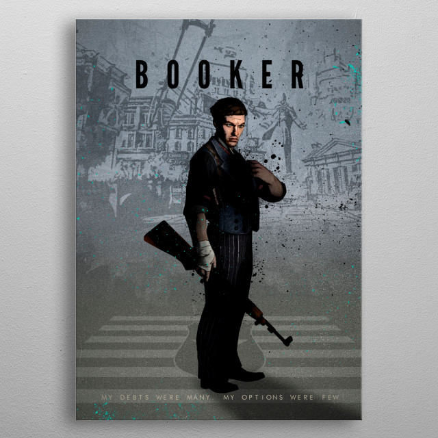 Legends of Gaming - Booker metal poster