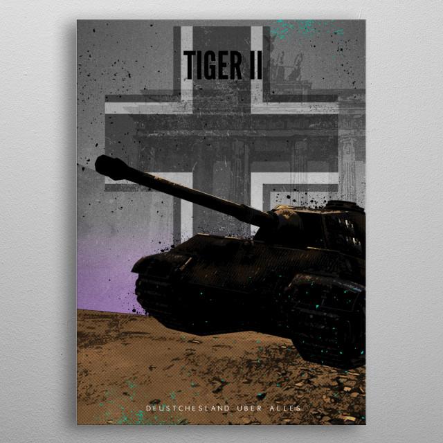 Actung Panzer! Tiger II metal poster