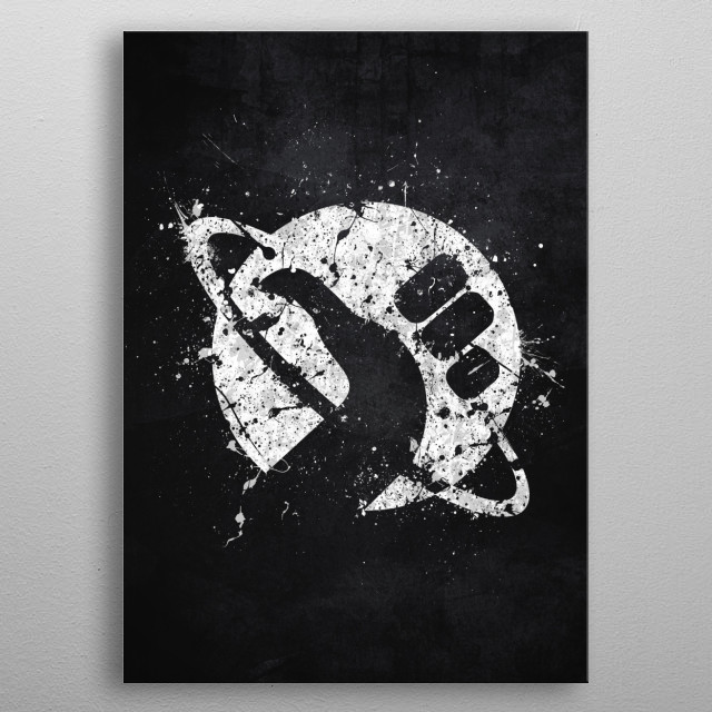 Hitchhiker's Guide to the Galaxy metal poster