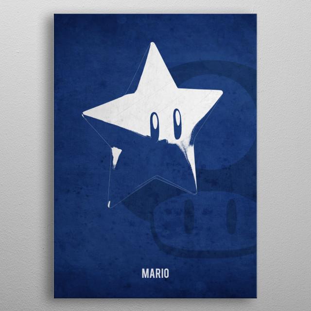 Legendary Weapons - Mario's Fireball Star metal poster