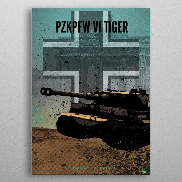Achtung Panzer! PkZpfw VI Tiger metal poster