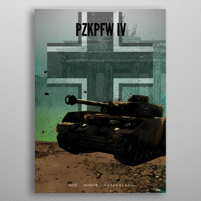 Achtung Panzer! PzKpfw IV metal poster