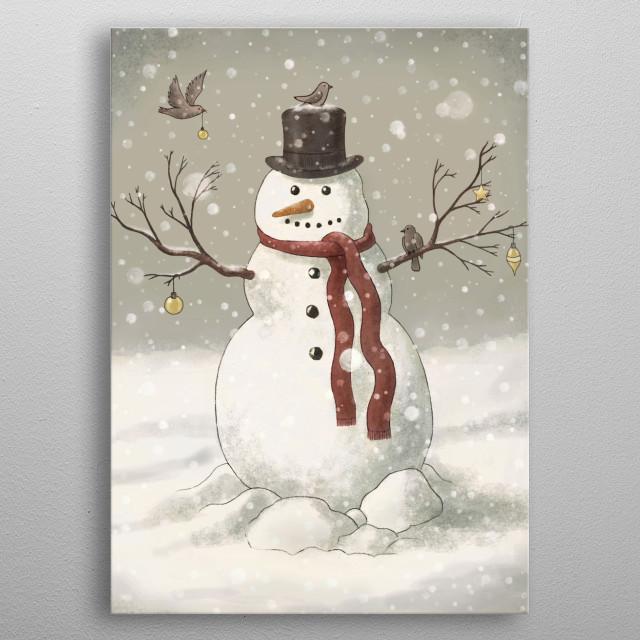 Snowman metal poster