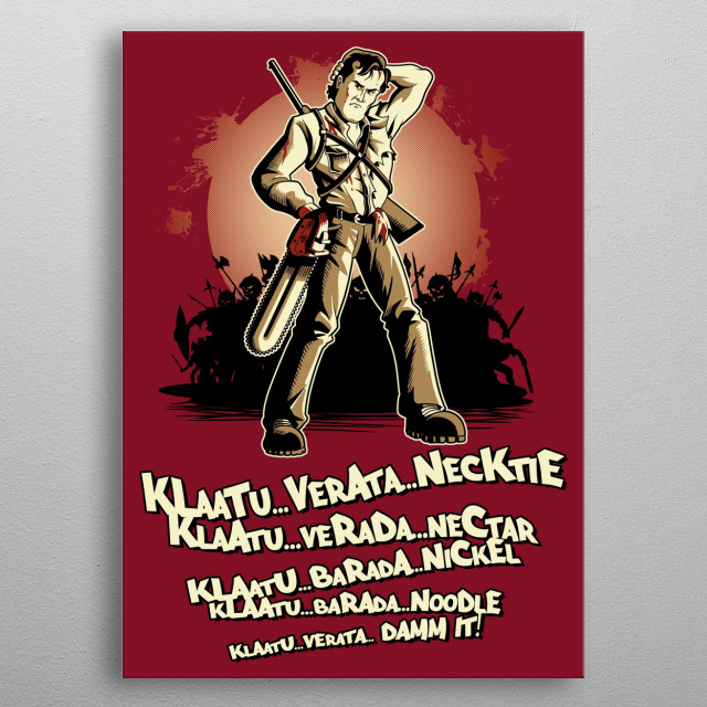 Klaatu Barada Nikto metal poster