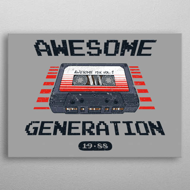 I belong to the generation of amazing music of the 80s! metal poster