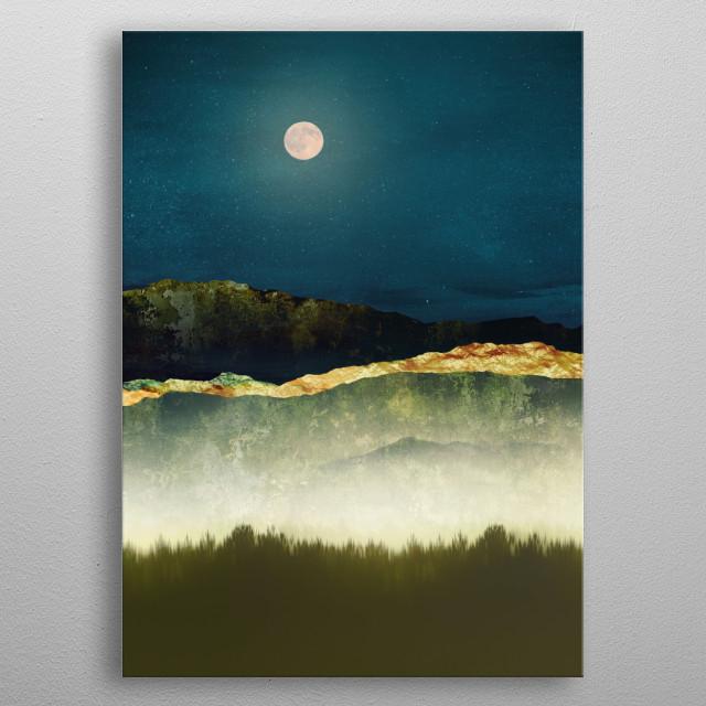 Midnight Moonlight metal poster