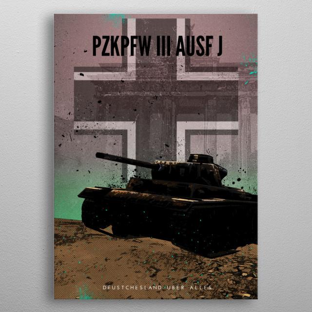 Achtung Panzer! PzKpfw III Ausf J metal poster