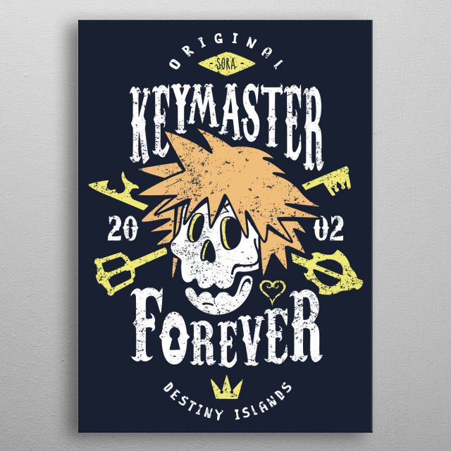 Original Keymaster since 2002 metal poster