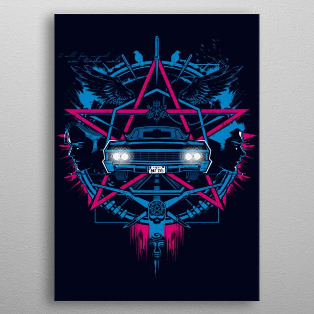 Non timebo mala... V.1 metal poster
