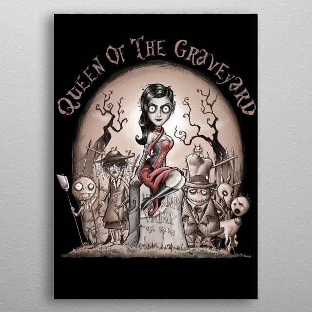 Queen of the Graveyard metal poster