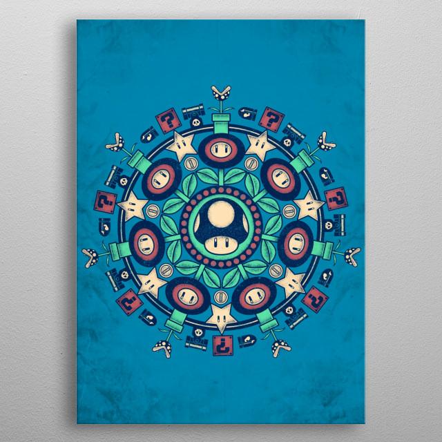 """""""One Up Mandala"""" metal poster"""