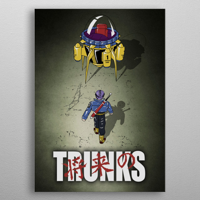 Future Trunks metal poster