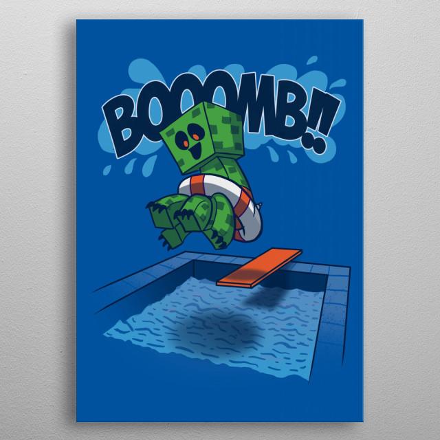 Booooomb! metal poster