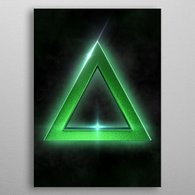 3D Triangle · For Ps Fans · Made with Autodesk Maya metal poster