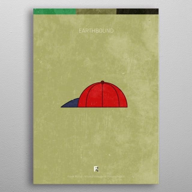 Earthbound. Minimal Videogame Poster. metal poster