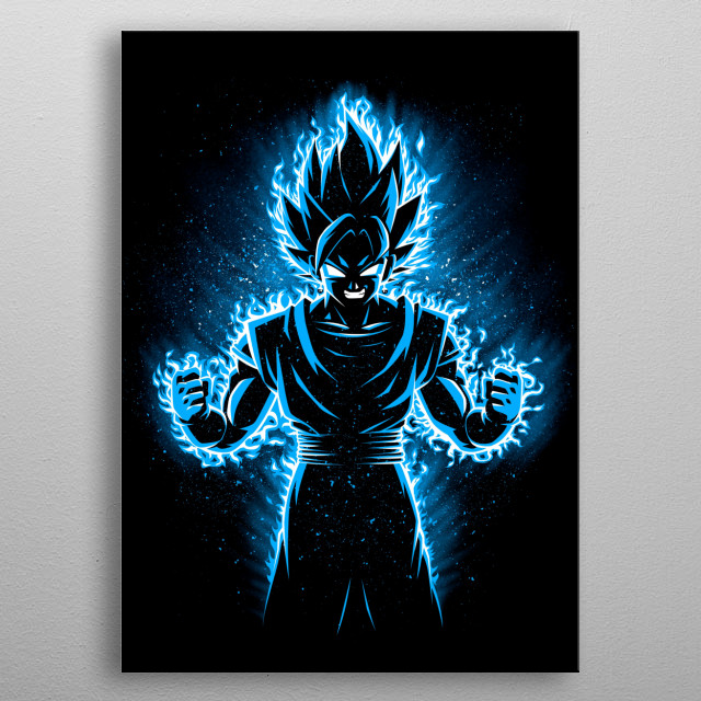 Vegeku blue god metal poster