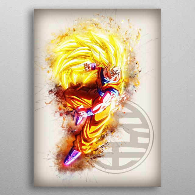 Goku SSJ 3 metal poster