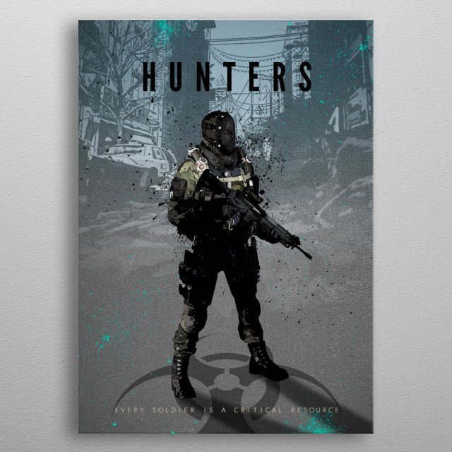 Legends of Gaming - Hunters faction metal poster