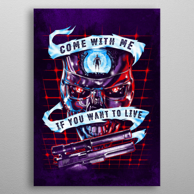 You better come. metal poster