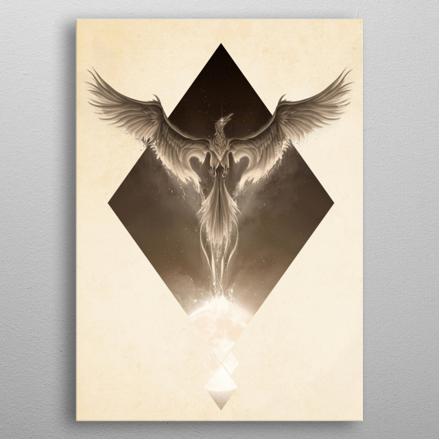 Fascinating metal poster designed by Rafapasta CG. Displate has a unique signature and hologram on the back to add authenticity to each design. metal poster