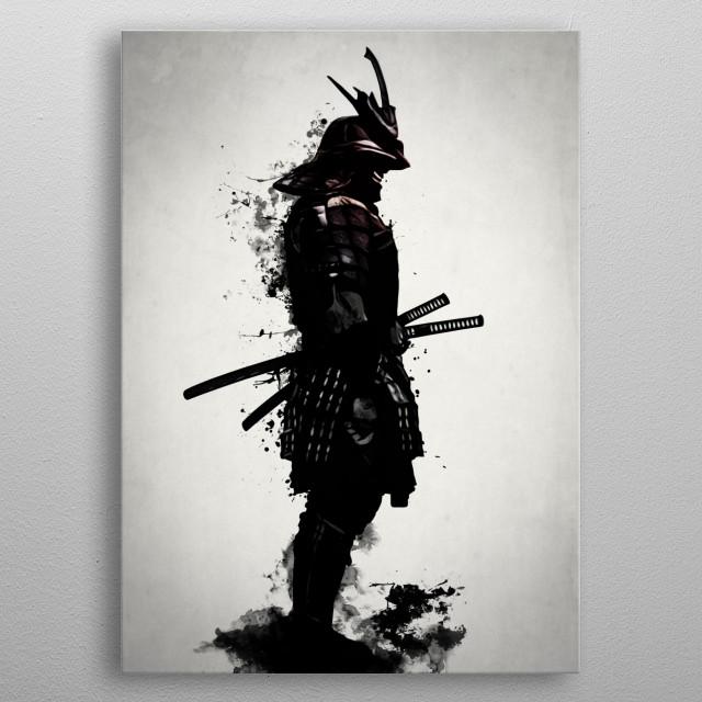 Armored Samurai metal poster