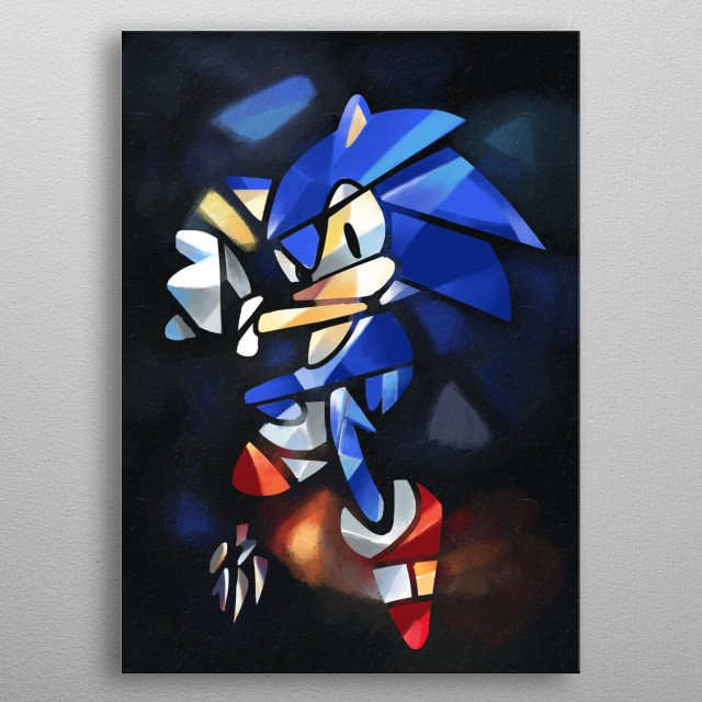 sonic vitral metal poster