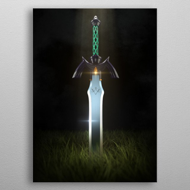 3D Master Sword · Made with Autodesk Maya metal poster