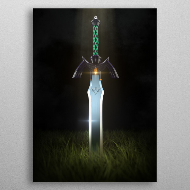 3D Master Sword metal poster