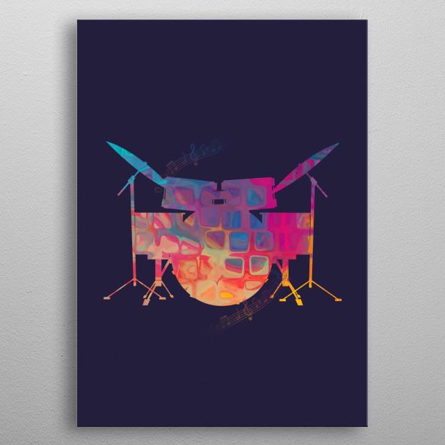 Drum Color metal poster