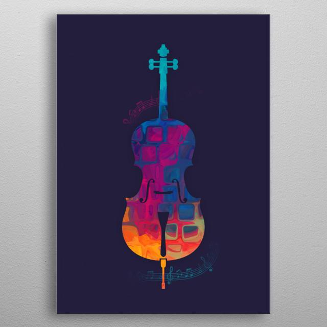 Cello Color metal poster