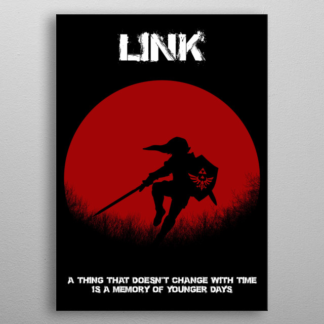 """Link - Zelda - I was going to make the quote """"My name is not Zelda"""" lol metal poster"""
