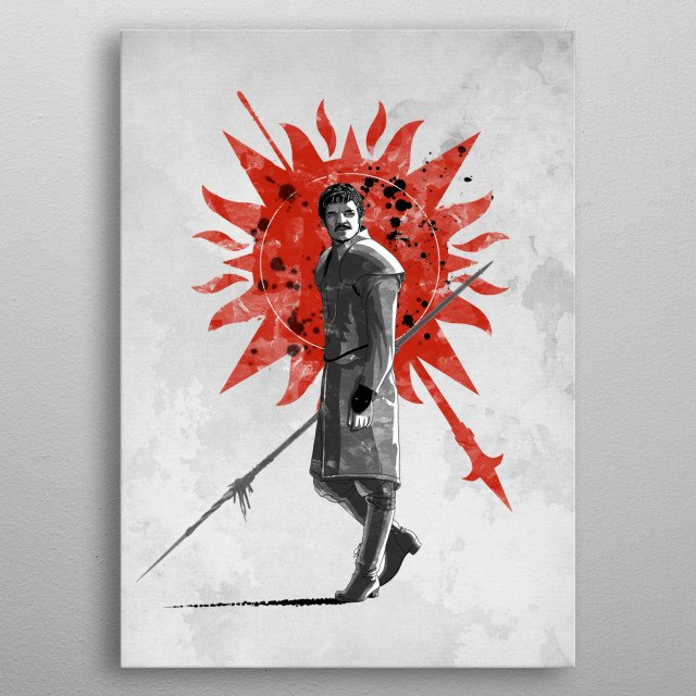 The Red Viper metal poster