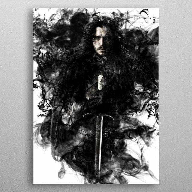 Jon Snow, Game Of Thrones.  metal poster