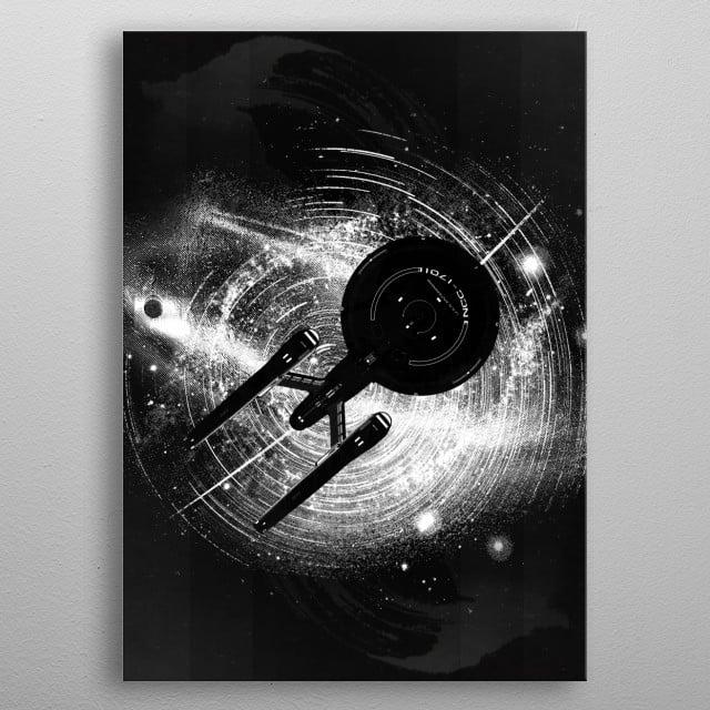 Enter space metal poster